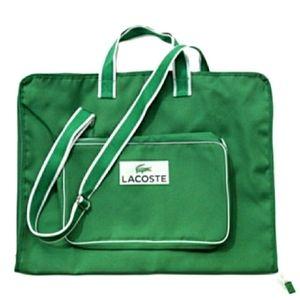 Lacoste Logo Kelly Green Garment Bag